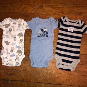 NWOT Child of Mine Preemie onesies.